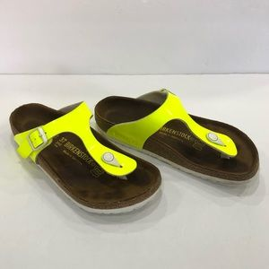 Birkenstock Gizeh Neon Yellow Thong Sandals, 6.5